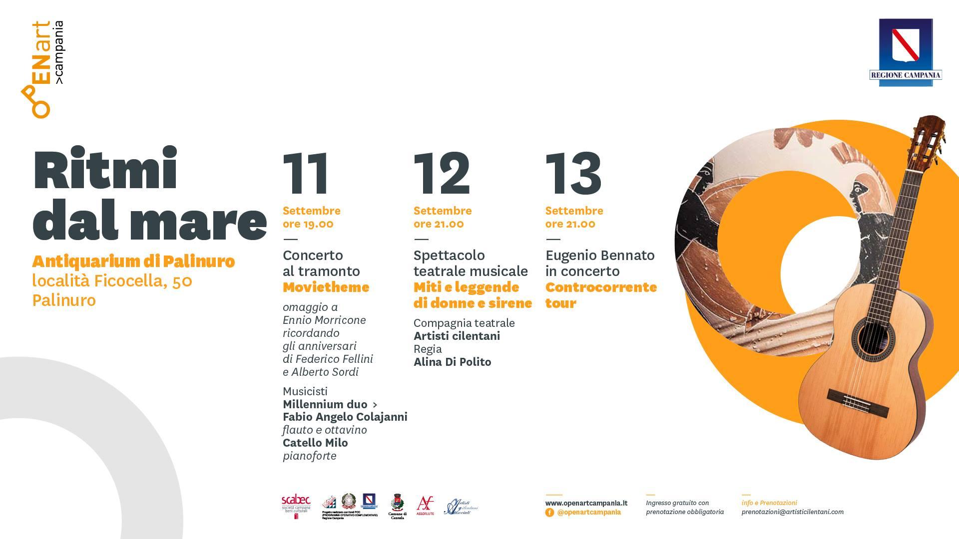 Ritmi dal mare: il 13 Settembre Bennato in concerto a Palinuro