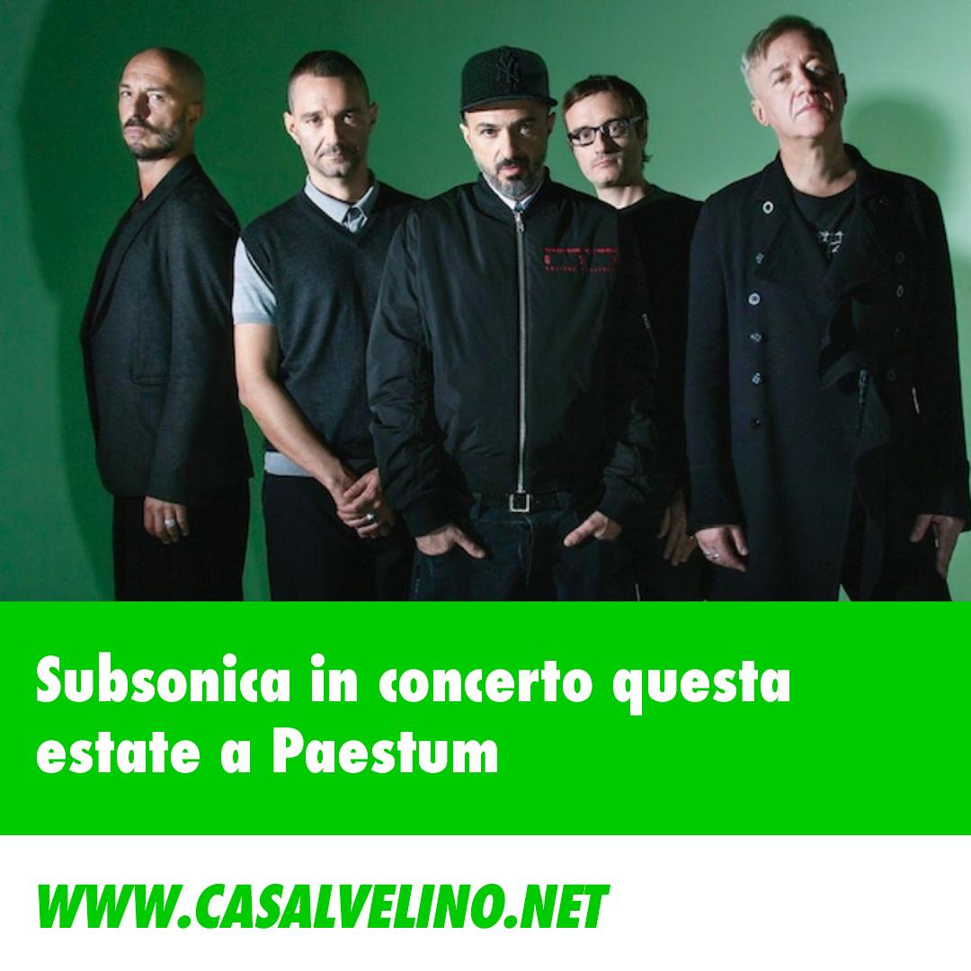 I subsonica questa estate in concerto a Paestum